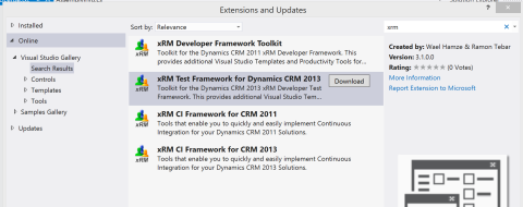DownloadXrmTestFramework